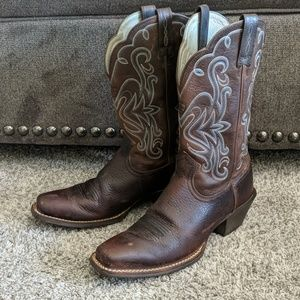 ARIAT Legend cowgirl western boots square toe sz 8